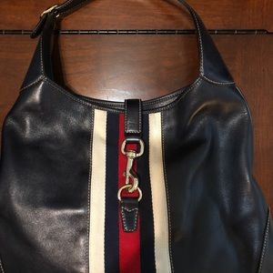 Gucci Navy Leather Jackie Bag